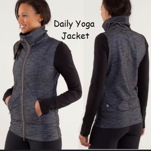 Lululemon Daily Yoga Jacket Coco Pique Black 10